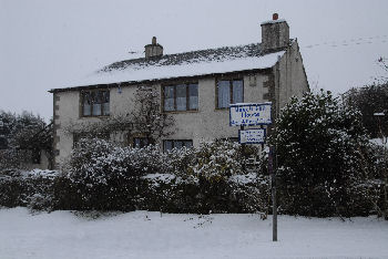 Beech Hill House in winter