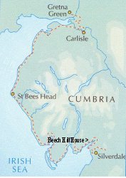 Map of Cumbria Coastal Way