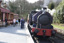 Steam train at Haverthwaite